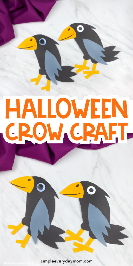 crow craft images with the words halloween crow craft in the middle