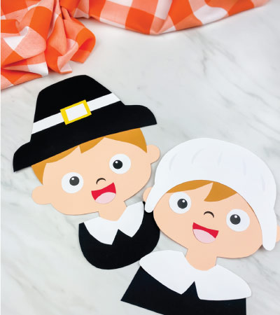 boy and girl pilgrim paper crafts