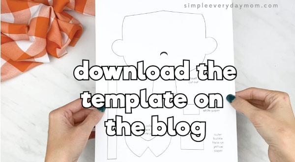 hands holding pilgrim craft template