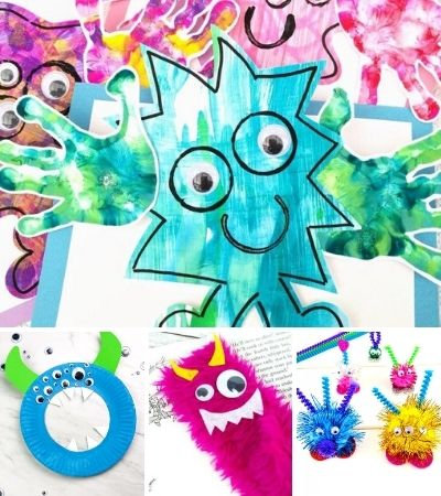 collage of monster craft images
