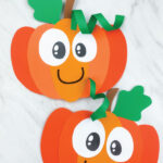 two paper pumpkin crafts for kids