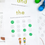 camping do a dot sight word printables