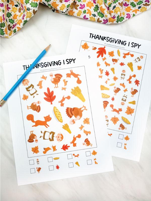 thanksgiving i spy printables