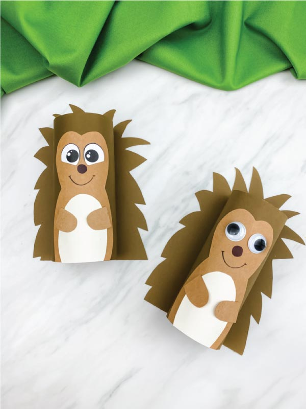 two toilet paper roll hedgehog crafts