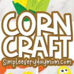 paper bag corn craft images with the words corn craft in the middle