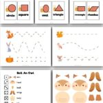 mockup of fall preschool printables with the words fall preschool printables simpleeverydaymom.com at the top