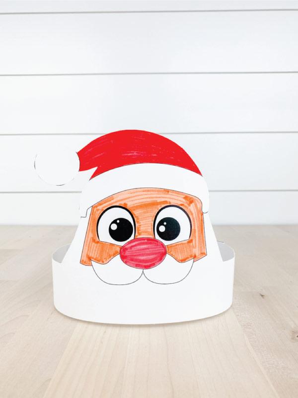 color in Santa headband craft