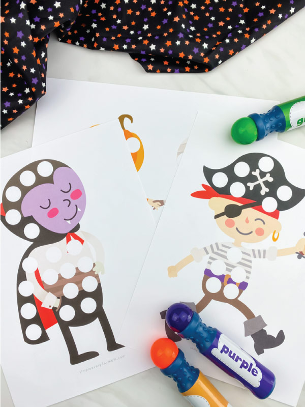 halloween do a dot printables