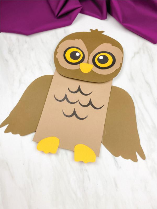 brown paper bag owl craft