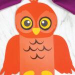orange owl paper bag craft
