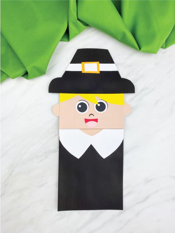 paper bag boy pilgrim craft