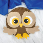 brown paper plate owl craft