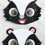 two paper plate skunk crafts
