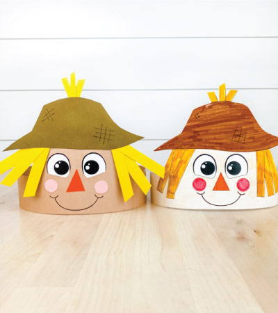 two scarecrow headbands for kids