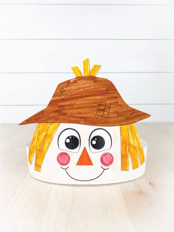 color in scarecrow headband template