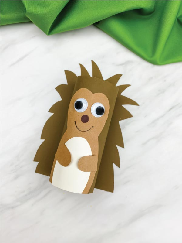 toilet paper roll hedgehog craft