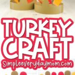 turkey headband craft image collage with the words turkey craft in the middle