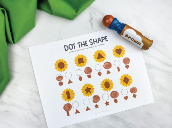 Thanksgiving dot the shape printables