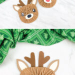 yarn wrapped reindeer craft image collage