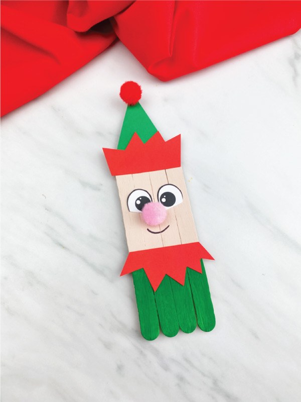 elf popsicle stick craft