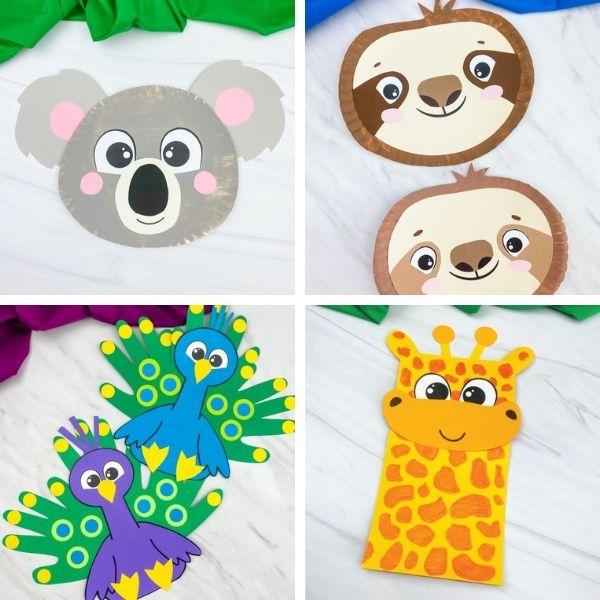 zoo animal craft image collage