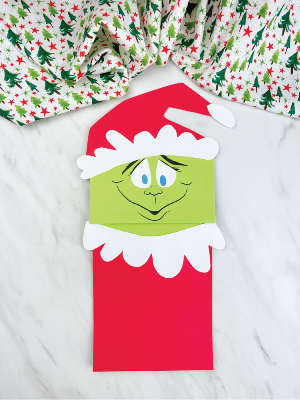 paper bag grinch craft
