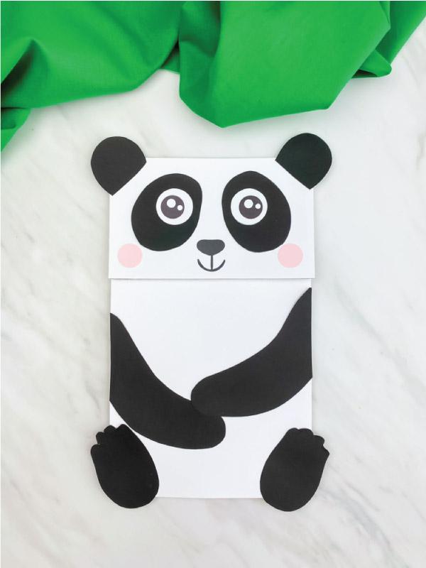 paper bag panda craft