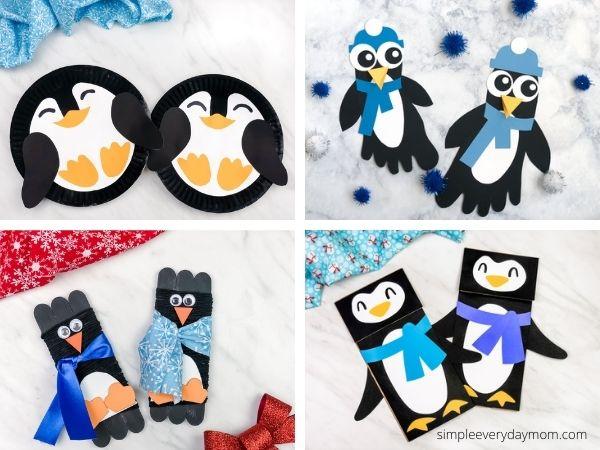 penguin craft image collage