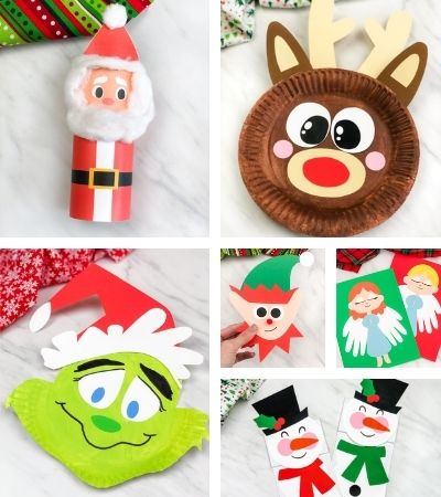 collage of christmas craft images
