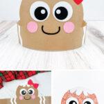 gingerbread headband craft image collage