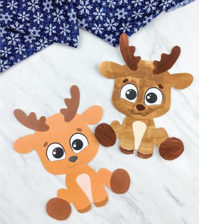 two printable reindeer crafts