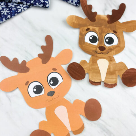 two printable reindeer crafts