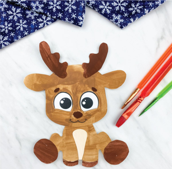 printable reindeer craft