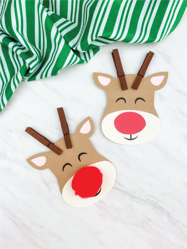 two clothespin reindeer crafts