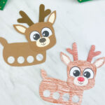 two reindeer finger puppets