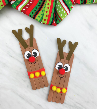two reindeer popsicle stick crafts