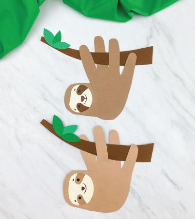 two handprint sloth crafts