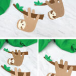 sloth handprint craft image collage