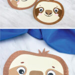 paper plate sloth craft image collage