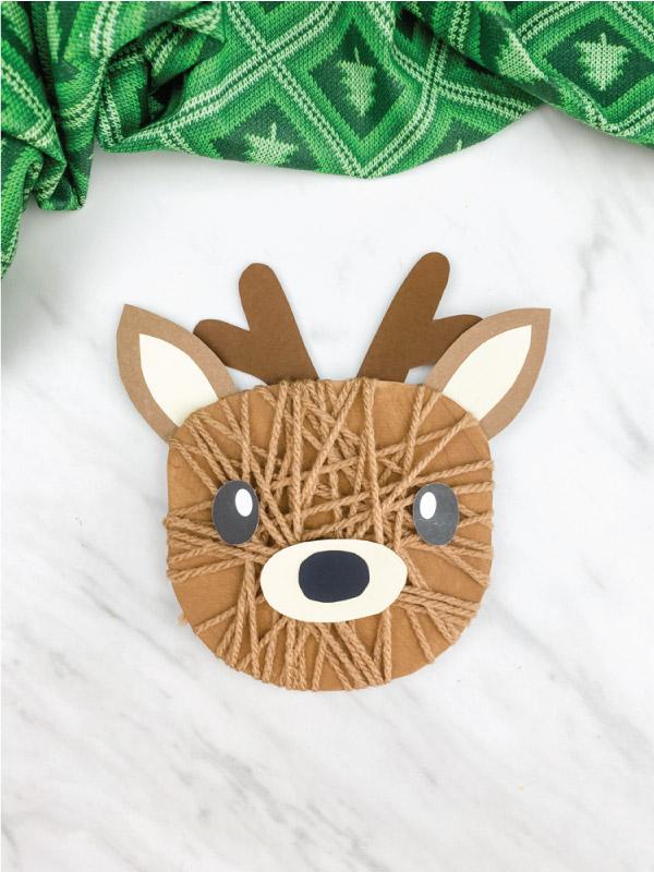 black nosed yarn wrapped reindeer