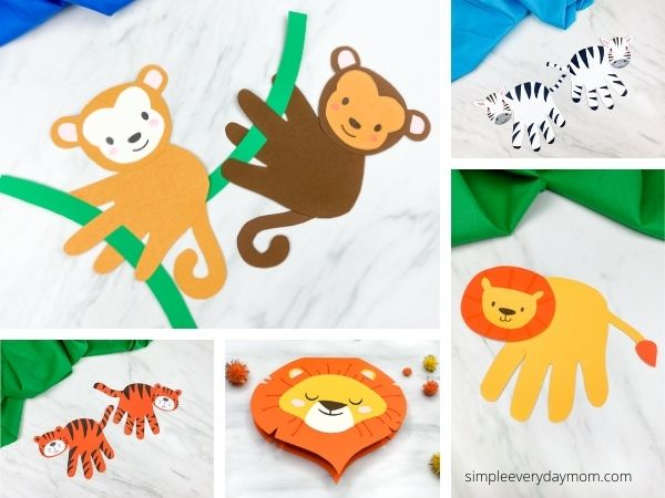 zoo animal craft image collage