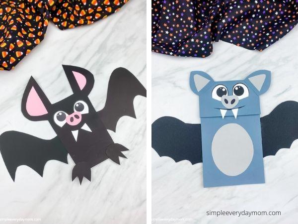 bat craft image collage