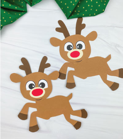 two paper rudolph crafts
