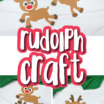 rudolph paper craft image collage with the words rudolph craft in the middle