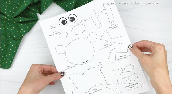 paper rudolph craft template