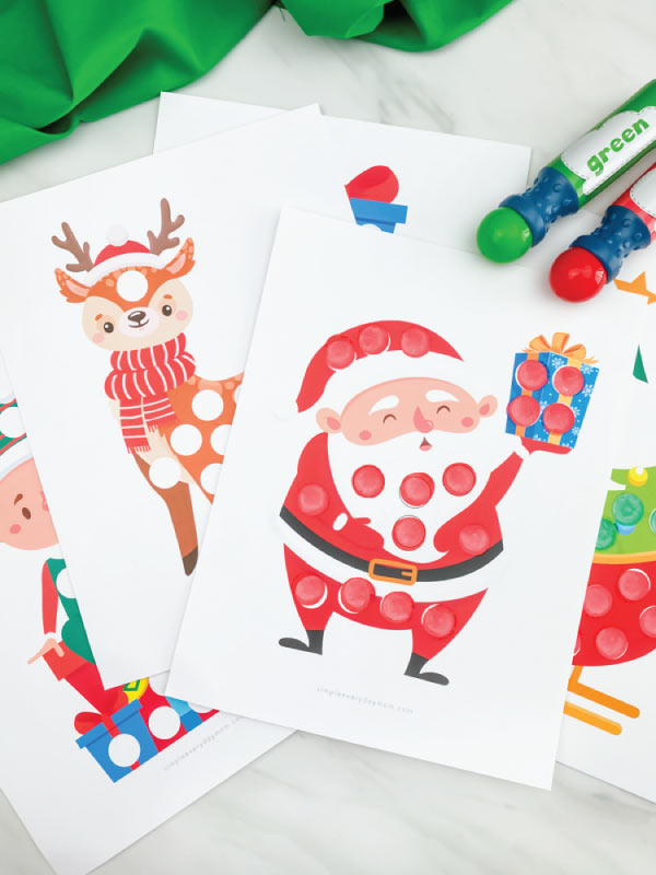 christmas do a dot art printables