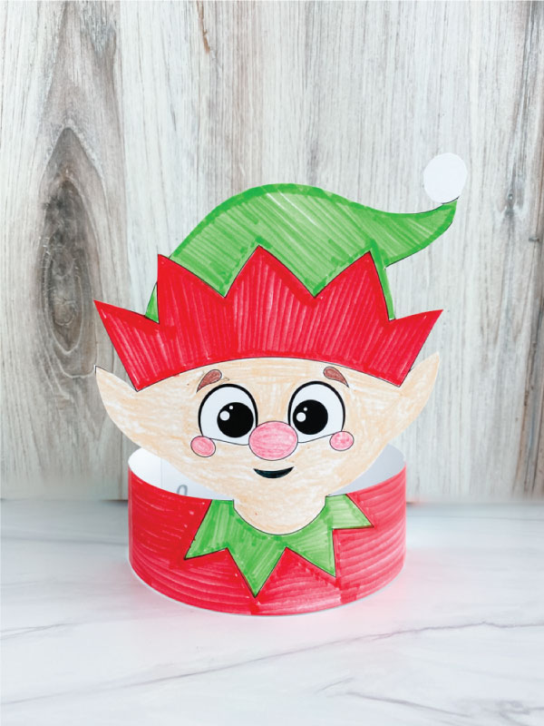 color in elf headband craft