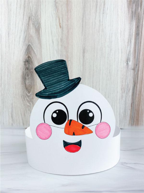 color in snowman headband craft