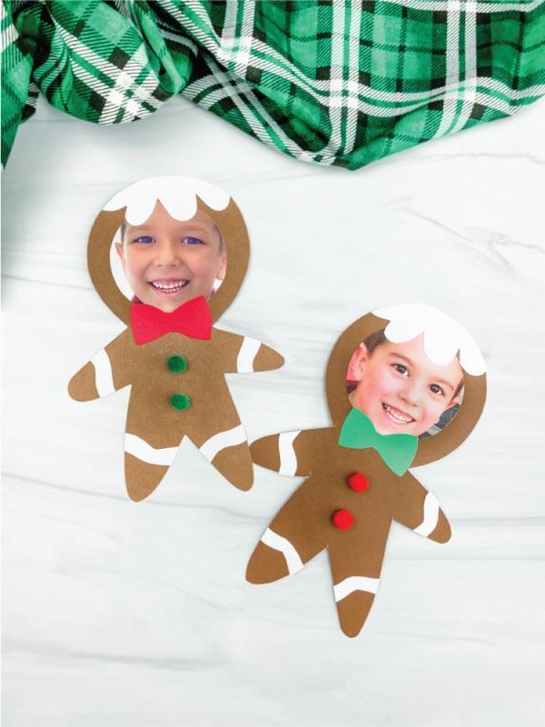 2 photo gingerbread man crafts