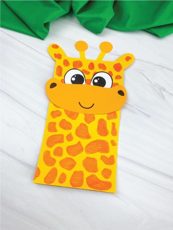 paper bag giraffe craft
